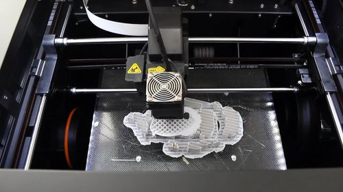 The scans are used as a blueprint by a 3D printer. (Rutly)