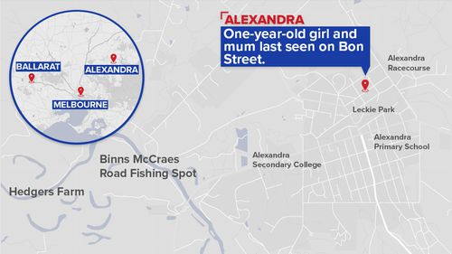 The pair were last seen in the Victorian town of Alexandra three days ago. (9NEWS)