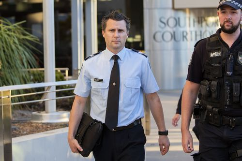 Senior Constable Steve Cornish has given evidence this morning on day two of the inquest. Picture: AAP
