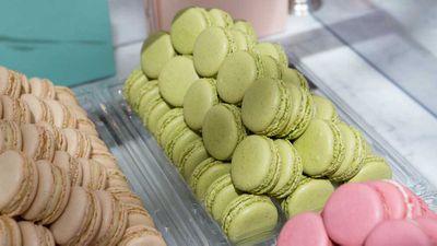 Ladurée's famous pastel shaded macarons