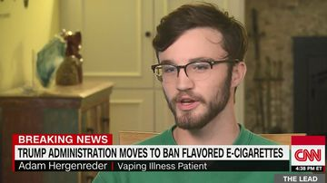 Adam Hergenreder could have died from vaping.
