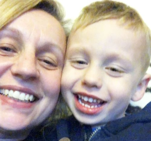 Selvi Berisa with her son Hayden.