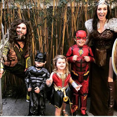 David Campbell and his family love dressing up
