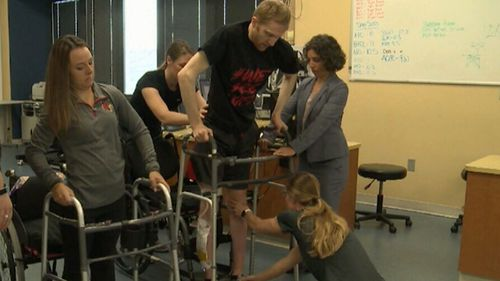 Patients told they would never walk again are defying the odds, thanks to a new medical device in their spine being pioneered in the USA.