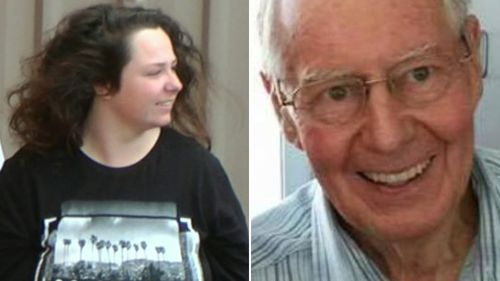 Brittney Dwyer is awaiting sentencing for the murder of her grandfather Robert Whitwell. (9NEWS)