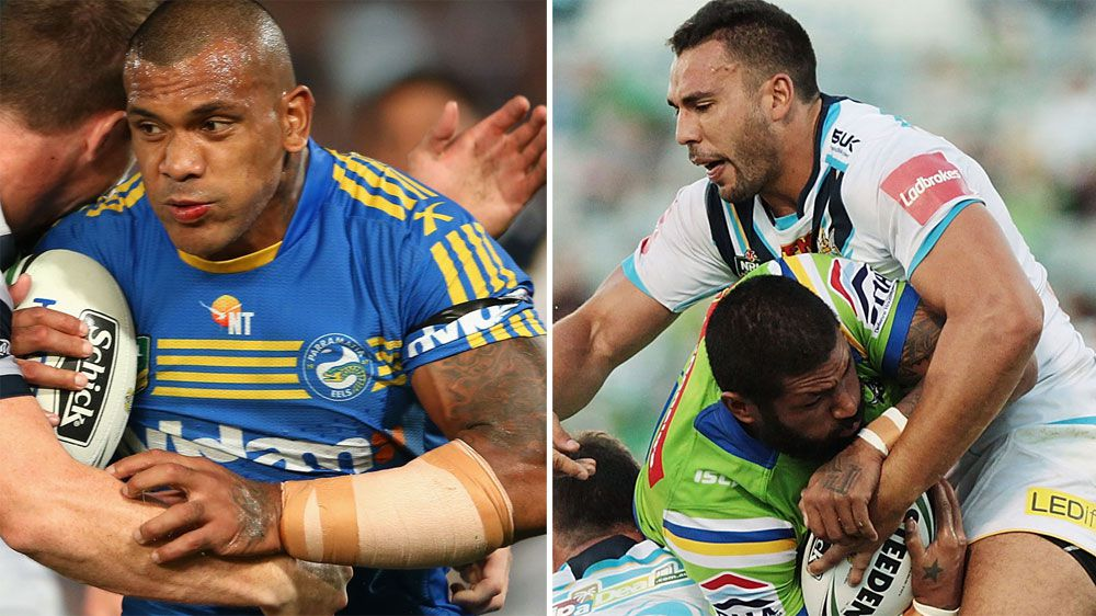 Manu Ma'u (L) and Ryan James have been cleared at the NRL juduciary. (Getty-file)