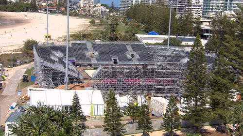The brand new velodrome, now ready for racing. (9NEWS)