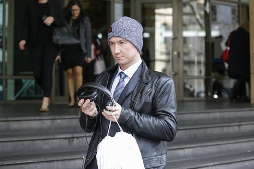 Oleg Prypoten was yesterday grilled by the defence in the Melbourne Magistrate's Court, asked complex questions focusing on phone records with data extracted from both Mr Ristevski and wife Karen's mobile phones. Picture: AAP
