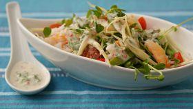 Crab and green mango salad