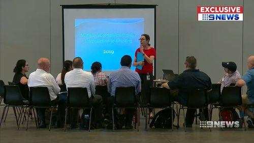 Teachers undergo training ahead of the marking.