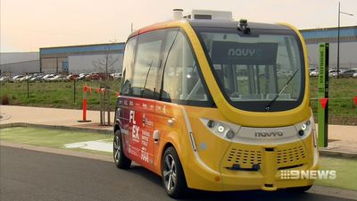 Driverless bus hits the road