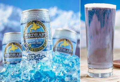 Blue beer