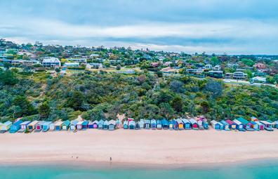 Beach huts at Mills Beach, Mornington Peninsula