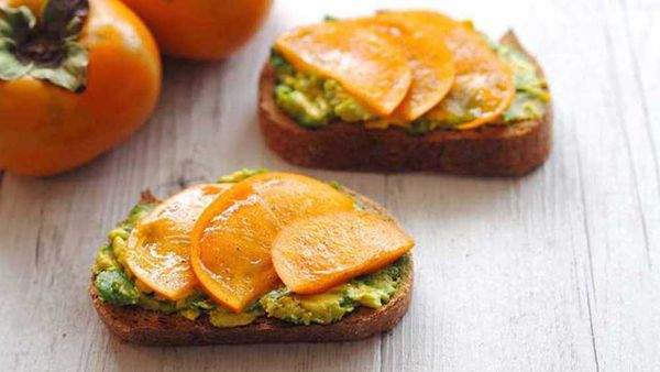 Persimmon topped toast