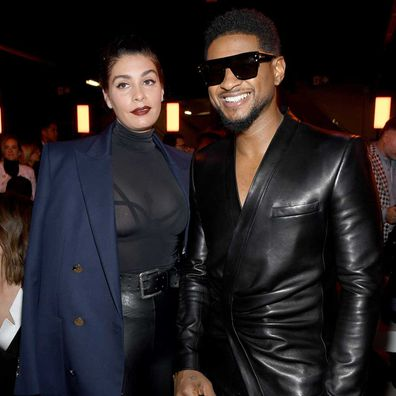 Jenn Goicoechea and Usher.