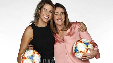 Amy (left) and Heather ahead of the FIFA Women's World Cup.