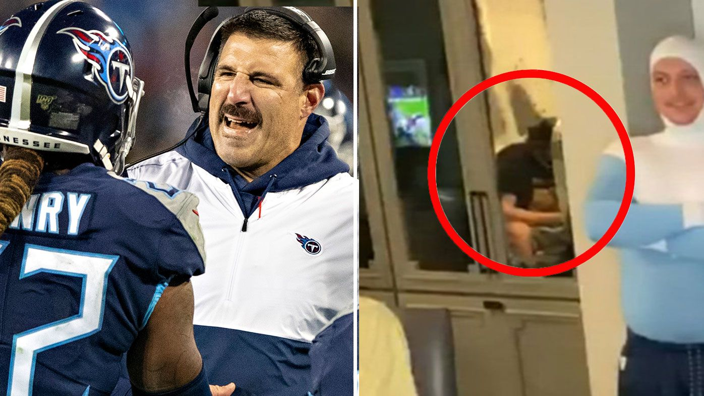 NFL fans lose it after coach's home reveals awkward moment