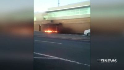 Man sets fire to police station in bizarre attack