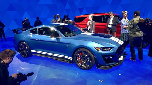 The Ford Mustang unveiled at the Detroit Motor Show comes with some serious grunt.