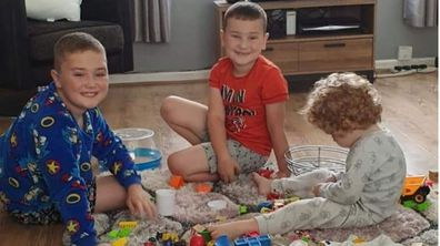 The three boys are all under the age of 10