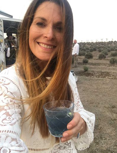 Carin Garland enjoys a lavender cocktail in the Queensland outback.