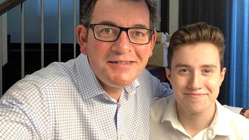 Premier Daniel Andrews celebrates Noah's 18th birthday.