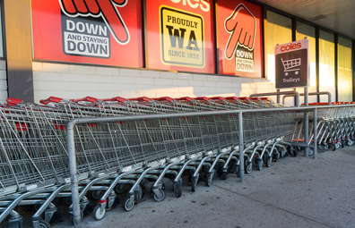 Coles shopping trolleys