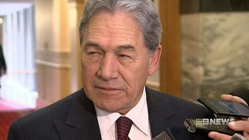 Controversial acting PM Winston Peters has offered his congratulations to the new parents. Picture: 9NEWS