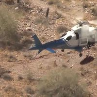 Injured hiker's dizzying helicopter rescue