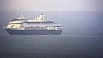 The Vasco de Gama off the coast of Adelaide.