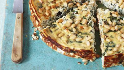 <strong>Anjum Anand's baked ricotta with chard</strong>