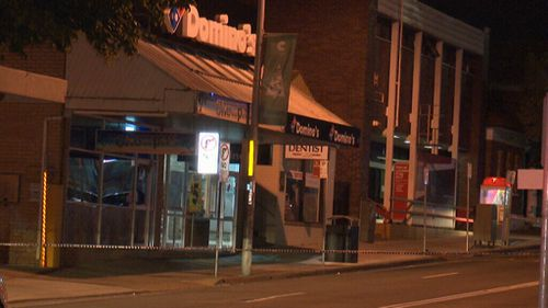 The gunman demanded cash and then the confrontation occurred. (9NEWS)
