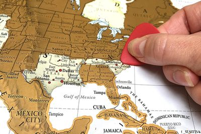 <strong>Scratch the World Map, $39.95</strong>