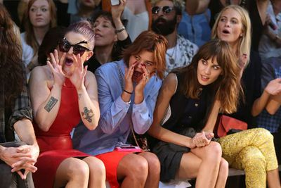 Hecklers at a fashion show? No, it's Kelly Osbourne, Pixie Geldof, Alexa Chung and Poppy Delevingne.