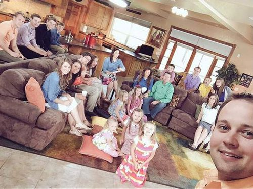 The Duggar family, with eldest Josh at the front right. (Instagram)