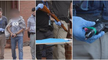 Police seized a litany of firearms, drugs and money in nine raids across Melbourne's north west.