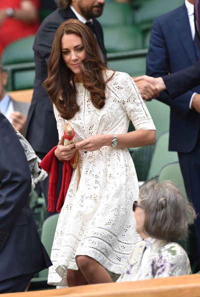 The Duchess of Cambridge Kate Middleton in Zimmermann during day nine of the Wimbledon Championships at Wimbledon in London, England, July, 2014