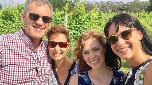 Lars, Vivian, Annabelle and Jessica Falkholt on Christmas Day. (Facebook)