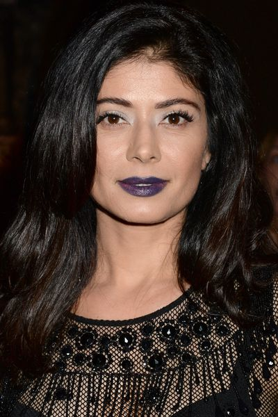 Dark and gritty, actress Pooja Batra paired blue-purple ombre lips with shimmery eyes.