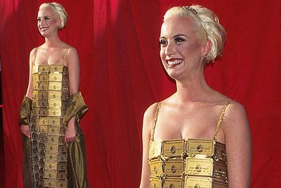 Nobody even knew who Aussie designer Lizzy Gardiner was before she wore this now-famous frock to the 1995 Oscars. Love it or hate it, it sure got her noticed.