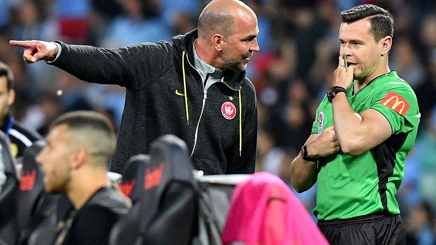 Sydney Derby marred by VAR controversy as Western Sydney Wanderers coach Markus Babbel sees red
