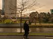 People wearing masks walk along the banks of the Yarra River on August 06, 2020 in Melbourne, Australia.