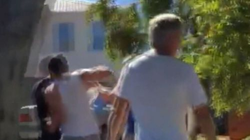 Mr Hoblos was caught on camera launching a one-punch attack on Mr Singh.