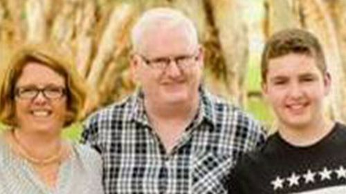 Byron Woods, 48, suffered a 7cm deep stab wound medics say could have killed him in the attack which happened just after 3am on Sunday morning in Holloway Street, Pagewood.