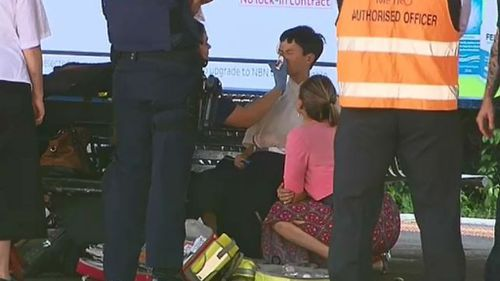 A teenager was also treated by paramedics at the scene. (9NEWS)