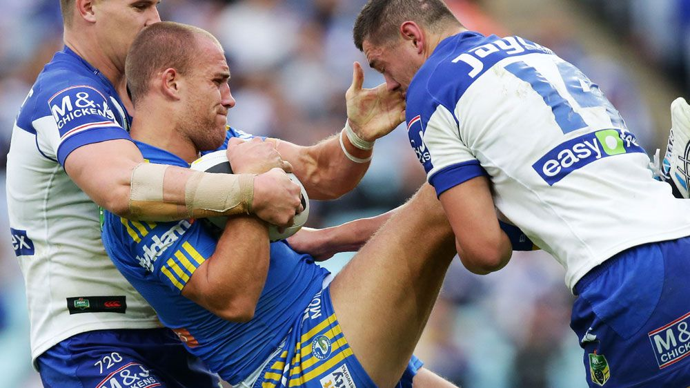 Lee Mossop during his playing days at Parramatta. (Getty-file)