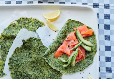 "Recipe: <a href=""http://kitchen.nine.com.au/2017/03/06/16/25/energy-boosting-spelt-and-spinach-crepes-with-avocado"" target=""_top"">Energy-boosting spelt and spinach crepes with avocado</a>"