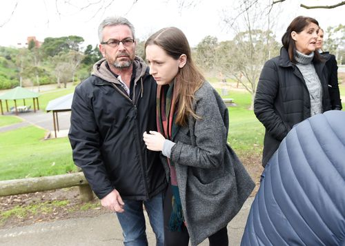 Borce and his daughter Sarah Ristevski plead for information to help find Karen. Picture: AAP