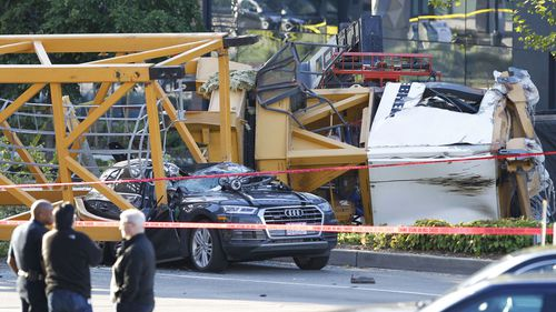 Crane falls from new Google campus building onto busy Seattle street, killing four