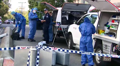 Investigators at the scene on Thursday. Picture: 9NEWS